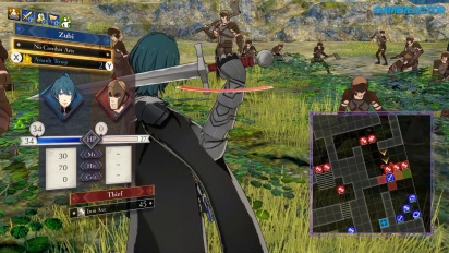 Fire Emblem: Three Houses - Gameplay de batalla