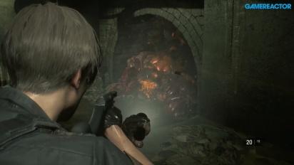 Resident Evil 2 - Gameplay de Leon S. Kennedy en las cloacas