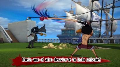 One Piece: Burning Blood - Tráiler español Modo Batalla Bandera Pirata