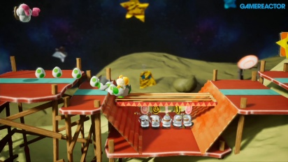 Yoshi's Crafted World - Gameplay de Despegue Inminente