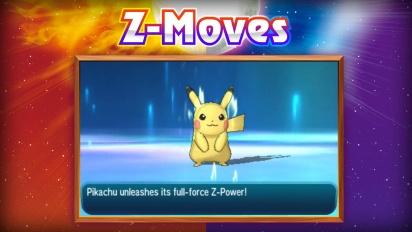 Pokémon Sun/Moon: Alola Forms and Z-Moves Revealed Trailer
