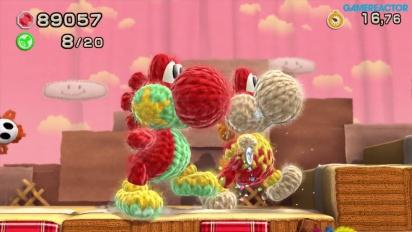 Yoshi's Woolly World - Gameplay co-op 2 jugadores Mundo 1 (1-7, 1-6)