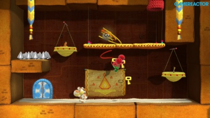 Yoshi's Woolly World - Gameplay co-op 2 jugadores Mundo 2 (2-2, 2-3, 2-7)