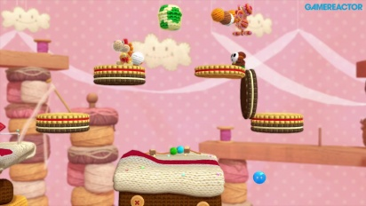 Yoshi's Woolly World - Gameplay co-op 2 jugadores Mundo 3 (3-1, 3-2)