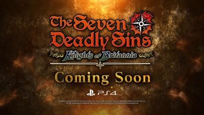 The Seven Deadly Sins: Knights of Britannia - PS4 - Announcement Trailer