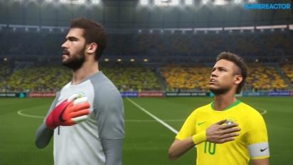 Pro Evolution Soccer 2018 - Partido completo Brasil-España Paquete de Datos 4.0