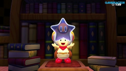 Captain Toad: Treasure Tracker: Gameplay misión 1-7 La biblioteca giratoria