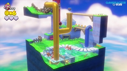 Captain Toad: Treasure Tracker: Gameplay misión 2-5 Chapuzones en el parque acuático
