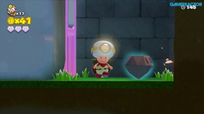 Captain Toad: Treasure Tracker: Gameplay misión 1-4 La meseta del champiñón