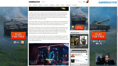 GRTV News - CD Projekt Red y el Crunch en Cyberpunk 2077
