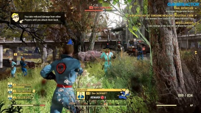 Fallout 76 - Gameplay del multijugador PvP