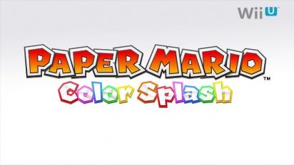 Paper Mario - Color Splash Reveal