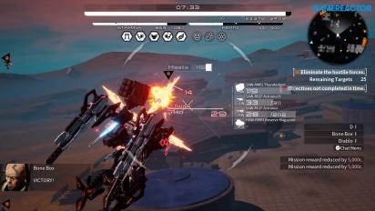 Daemon X Machina - Gameplay de una Misión Principal y otra extra