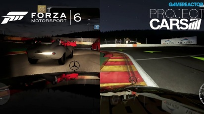 Forza Motorsport 6 vs Project CARS Gameplay comparativo: Spa-Francorchamps de noche