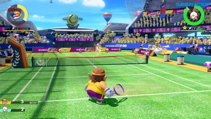 Mario Tennis Aces - Gameplay Wario vs Estela nivel Profesional
