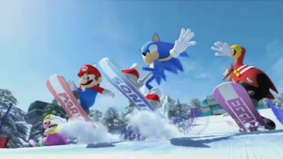 Mario & Sonic Olympic Winter Games - E3 09: Trailer