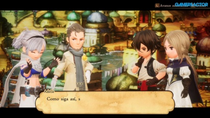 Bravely Default 2 - Gameplay español 43 minutos con la demo
