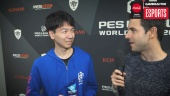 PES League WT 2018 Ronda Europa - Entrevista al Campeón Naoki 'Sofia' Sugimura