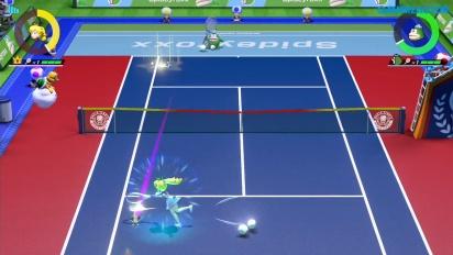 Mario Tennis Aces - Gameplay online Peach vs. Spike