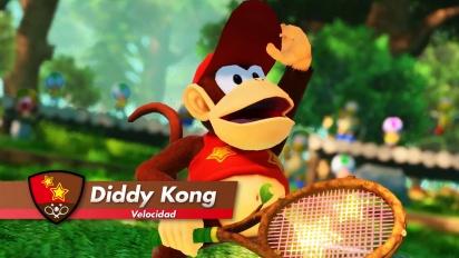 Mario Tennis Aces - Tráiler de Diddy Kong en español