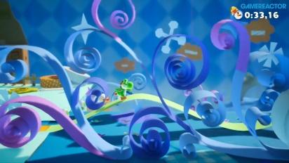 Yoshi's Crafted World - Gameplay Cintas de colores (Reverso)