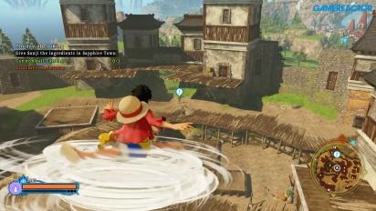 One Piece: World Seeker - Gameplay de exploración libre en Pirate Island