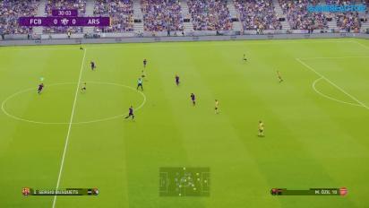 eFootball PES 2020 - Gameplay final FC Barcelona vs. Arsenal