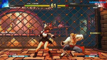 Street Fighter V: Arcade Edition - Camino SF Alpha - Sakura vs. Vega