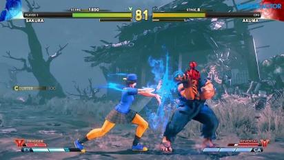 Street Fighter V: Arcade Edition - Camino SF Alpha - Sakura vs. Akuma