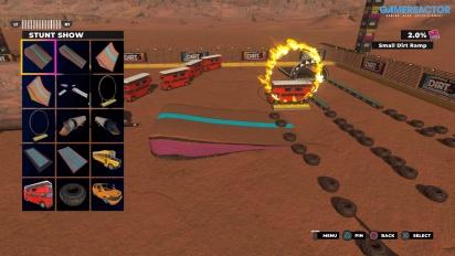 Dirt 5: Playgrounds - Usando el Editor del modo Crear