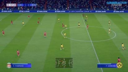 FIFA 20 - Gameplay Liverpool vs. Dortmund en Liga de Campeones