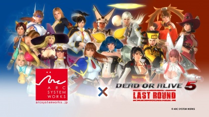 Dead or Alive 5: Last Round - BlazBlue & Guilty Gear Costumes Trailer