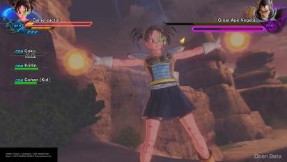 Dragon Ball Xenoverse 2 Beta - Gameplay contra Vegeta SS mono gigante