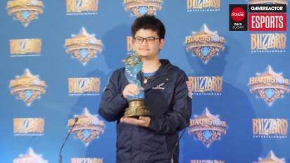 Hearthstone World Championship 2018 - Rueda de prensa de tom60229, campeón del mundo