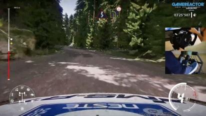 WRC 9 - Gameplay del Rally Neste en Finlandia con volante y pedales