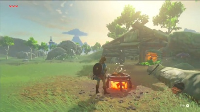 The Legend of Zelda: Breath of the Wild - Cooking and making a bridge