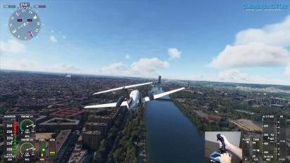Microsoft Flight Simulator - Vuelo breve sobre Sevilla con el TCA Sidestick Airbus Edition