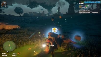 Yonder: The Cloud Catcher Chronicles - Gameplay construyendo una granja