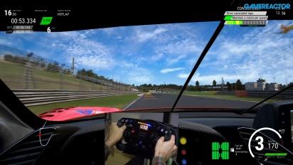 Assetto Corsa Competizione - Gameplay con volante y pedales de Ferrari 488 GT3
