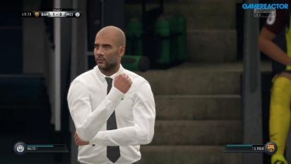 FIFA 17 - Gameplay partido FC Barcelona vs Manchester City previa de Champions
