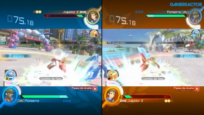 Pokkén Tournament DX - Gameplay del multijugador local a pantalla partida
