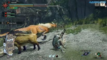 Monster Hunter Rise - Gameplay cazando al Gran Izuchi