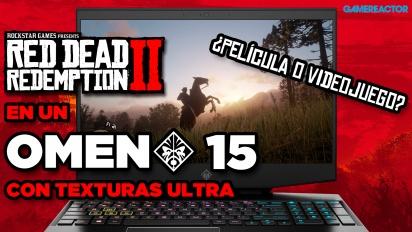 Red Dead Redemption 2 con texturas ultra en el portátil OMEN 15 de HP - ¿Película o videojuego?