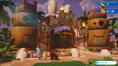 Mario + Rabbids Kingdom Battle - Gameplay exclusivo del DLC Donkey Kong Adventure