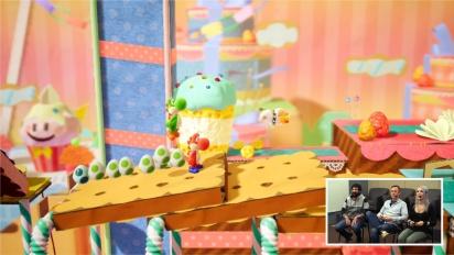 Yoshi's Crafted World - Nintendo Treehouse Gameplay