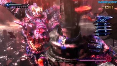 Bayonetta 2 - Gameplay de Nintendo Switch contra el dragón Gomorrah