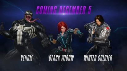Marvel vs. Capcom: Infinite - Winter Soldier, Black Widow and Venom Gameplay