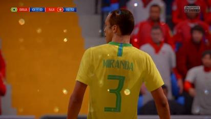 FIFA 18 World Cup Russia 2018 - Partido completo Brasil vs Suiza