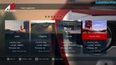 Assetto Corsa - Menú de juego en PS4 Alpha