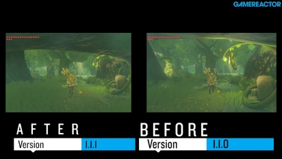 The Legend of Zelda Breath of the Wild - Comparación de gameplay: Antes y después del parche v1.1.1